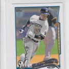 Jean Segura Future Star Trading Card Single 2014 Topps Mini 215 Brewers