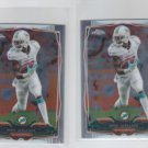 Brian Hartline Trading Card Lot of (2) 2014 Topps Chrome Mini #81 Dolphins