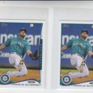 Franklin Gutierrrez Trading Card Lot of (2) 2014 Topps Mini 121 Mariners