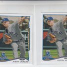 Jason Vargas Trading Card Lot of (2) 2014 Topps Mini 544 Royals