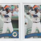 Aaron Hicks Lot of (2) 2010 Topps Pro Debut #4 Twins