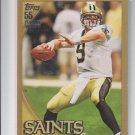 Drew Brees Gold Parallel SP 2010 Topps #100 Saints 1209/2010