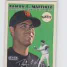 Ramon Martinez Trading Card Single 2000 Fleer Tradition Glossy #214 Giants