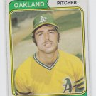 Dave Hamilton Baseball Trading Card 1974 Topps #633 Athletics NMT *BILL