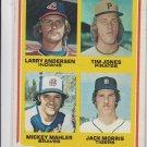 Jack Morris Mahler Jones Anderson RC 1978 Topps #703 EXMT Tigers *BILL