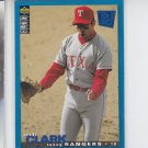 Will Clark Trading Card 1995 UD Collector's Choice SE #184 Rangers *ABC *BILL