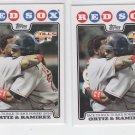 David Ortiz & Manny Ramirez Lot of (2) 2008 Topps #99 Red Sox WS HL