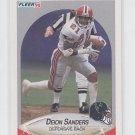 Deion Sanders Trading Card Single 1990 Fleer #382 Falcons