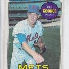 Cal Koonce Baseball Trading Card 1969 Topps #303 Mets VGEX *BILL