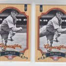 Bob Feller Baseball Trading Card Lot of (2) 2012 Panini Cooperstown 69 Indians