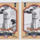 George Brett Baseball Trading Card Lot of (2) 2012 Panini Cooperstown 24 Royals