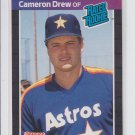 Cameron Drew RC Rated Rookie 1989 Donruss #30 Astros