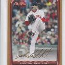 Josh Beckett Gold Parallel 2008 Bowman #80 Red Sox