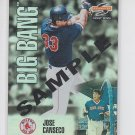 Jose Canseco Sample Promo Insert 1995 Score Summit #BB12 Red Sox