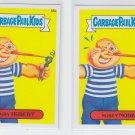 Nosey Norb & Hairy Hubert Lot of (2) 2014 Topps Garbage Pail Kids #88a & #88b