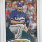 Francisco Rodriguez Trading Card Single 2012 Topps Series 2 #499 Brewers