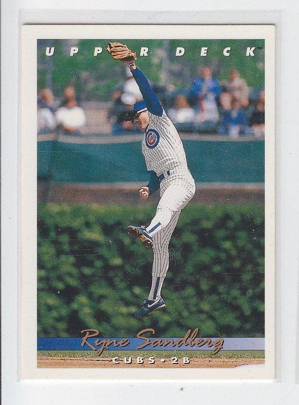 Ryne Sandberg Trading Card 1993 Upper Deck #175 Cubs