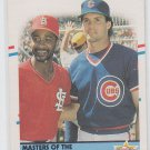 Ozzie Smith Ryne Sandberg Trading Card 1988 Fleer #628 AS