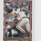 Jeff King Gold Parallel Trading Card 1992 Topps #693 Pirates