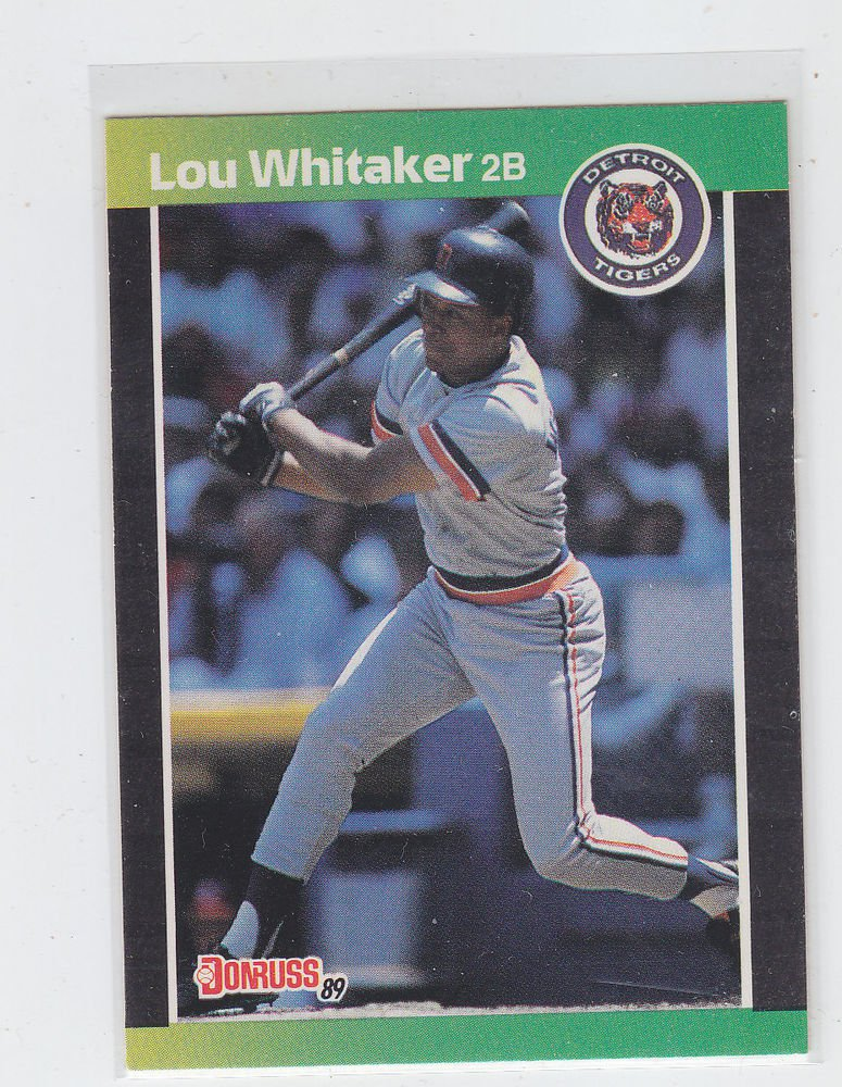 Lou Whitaker Trading Card 1989 Donruss #298 Tigers