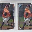 Mark Appel Trading Card Lot of (2) 2015 Bowman Chrome #BCP85 Astros