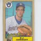 B.J. Surhoff RC Trading card Single 1987 Topps #216 Brewers NMMT