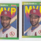 Ozzie Smith Trading Card Lot of (2) 1989 Donruss #BC4 Cardinals MVP