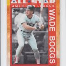 Wade Boggs Trading Card Single 1990 Topps #387 Red Sox All Star