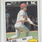 Pete Rose Trading Card Single 1985 Topps #6 Reds Record Breaker