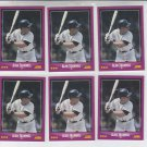 Alan Trammell Trading Card Lot of (6) 1988 Score #37 Tigers