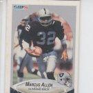 Marcus Allen Trading Card Single 1990 Fleer #249 Raiders