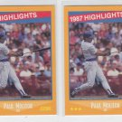 Paul Molitor 87 HL Trading Card Lo tof (2) 1988 Score #660 Brewers