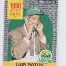 Gary Payton RC Trading Card Single 1990-91 Hoops #391 Supersonics