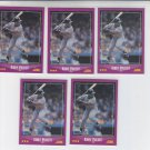 Kirby Puckett Trading Card Lot of (5) 1988 Score #34 Twins