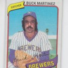 Buck Martinez Trading Card Single 1980 Topps #477 Brewers