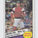 Carlton Fisk Trading Card Single 1985 Topps #1 White Sox Record Breaker