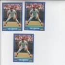 Dave Concepcion Trading Card Lot of (3) 1988 Score #210 Reds
