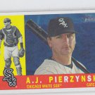 A.J. Pierzynski High Numbers SP Trading Card 2009 Topps Heritage #477 White Sox