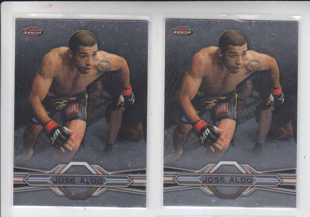 Jose Aldo Trading Card Lot of (2) 2013 Topps UFC Finest #95