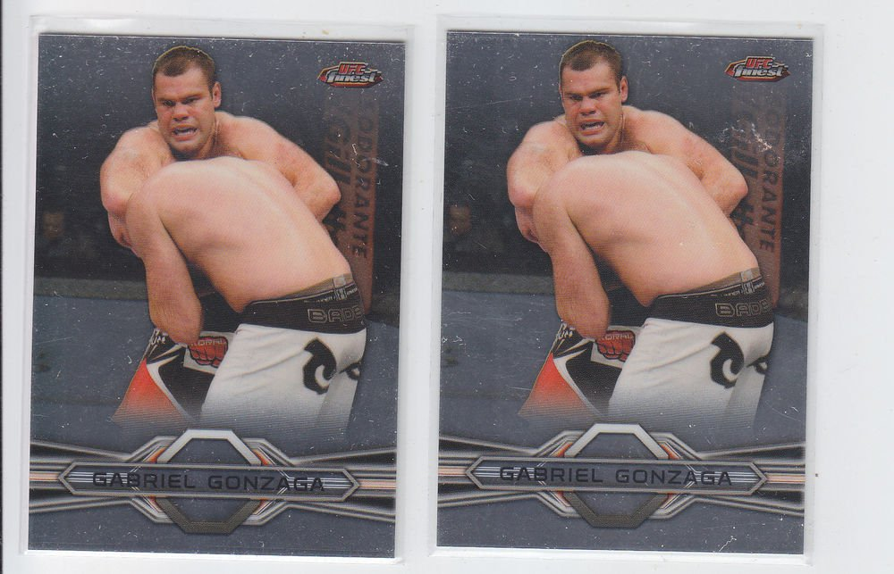 Gabriel Gonzaga Trading Card Lot of (2) 2013 Topps UFC Finest #83