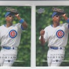 Alfonso Soriano Trading Card Lot of (2) 2008 Upper Deck #79 Cubs