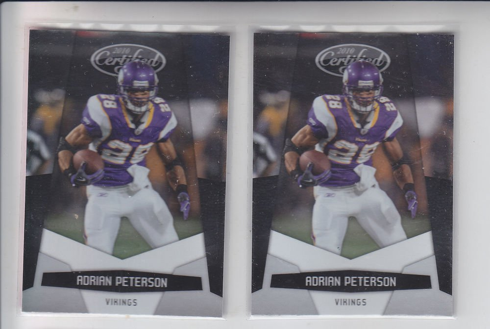 Adrian Peterson Trading Card Lot of (2) 2010 Panini Certified #82 Vikings