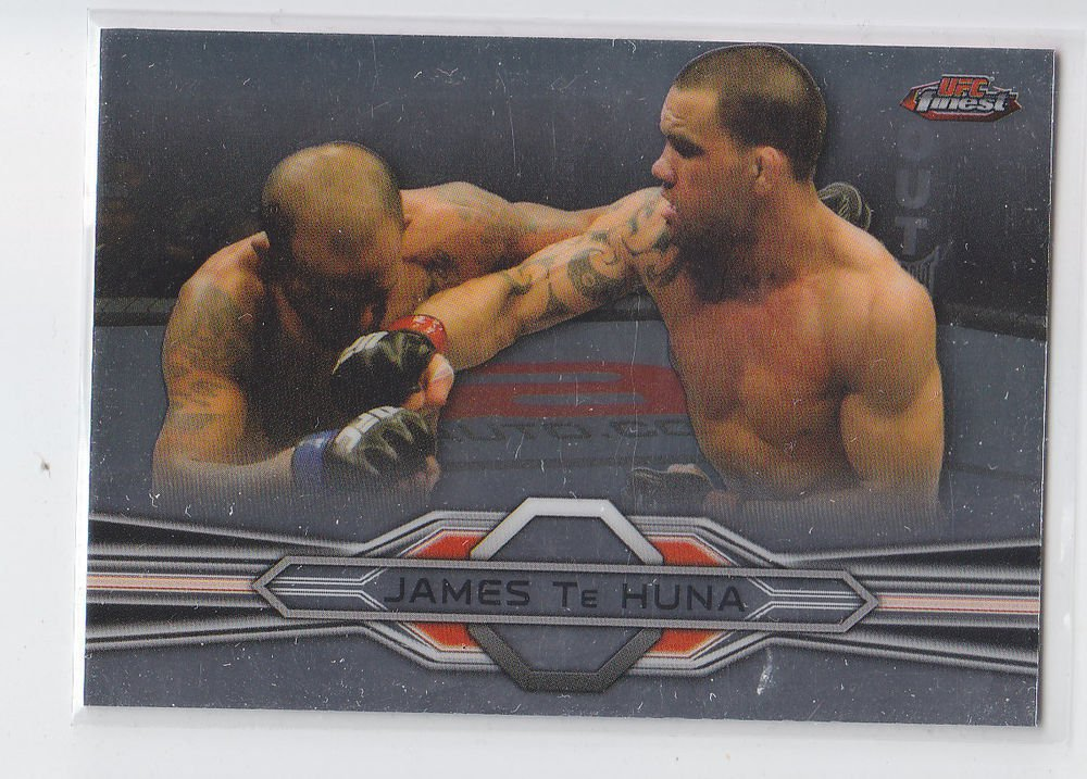 James Te Huna Trading Card Single 2013 Topps UFC Finest #24