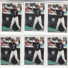 Ellis Burks Trading Card Lot of (6) 1994 Topps #538 White Sox