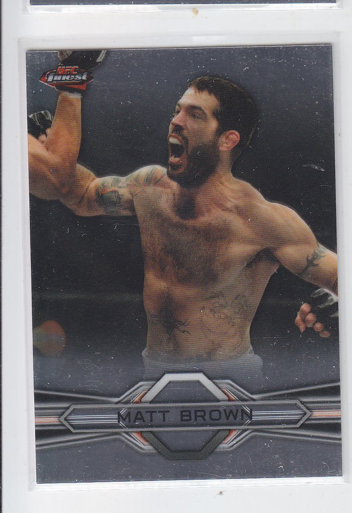 Matt Brown Trading Card Single 2013 Topps UFC Finest #50