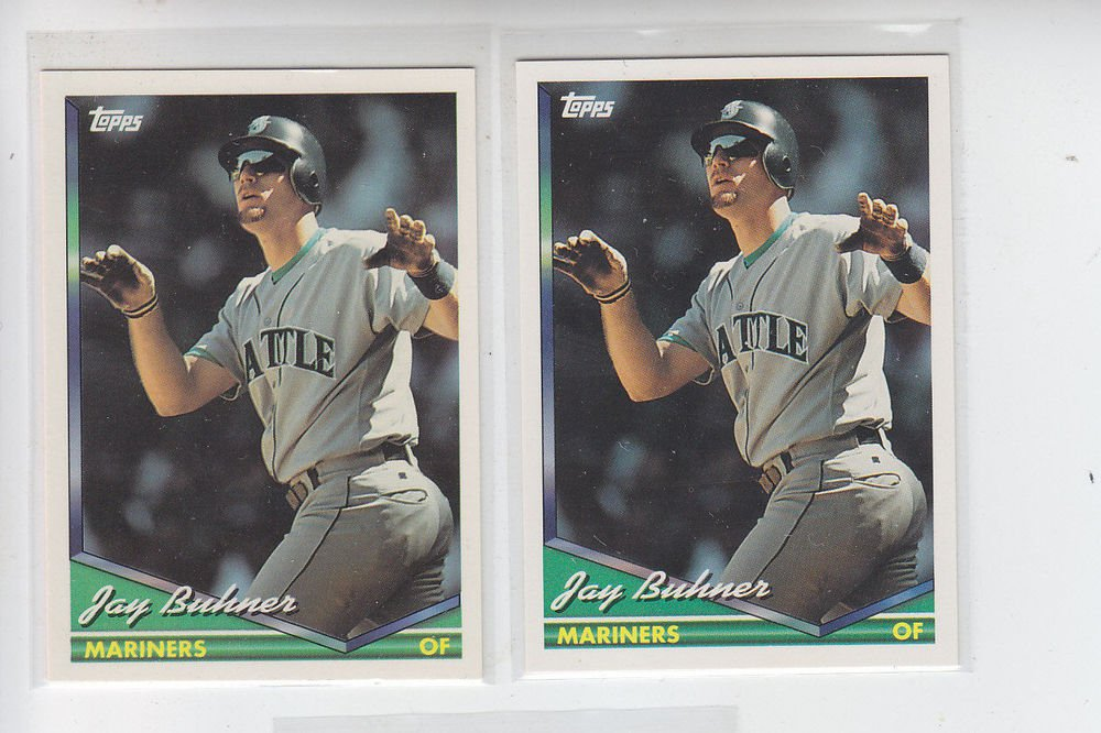 Jay Buhner Trading Card Lot of (3) 1994 Topps #472 Mariners
