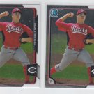 Nick Travieso Lot of (2) 2015 Bowman Chrome #BC82 Reds