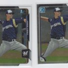 Jorge Lopez Lot of (2) 2015 Bowman Chrome #BC39 Brewers
