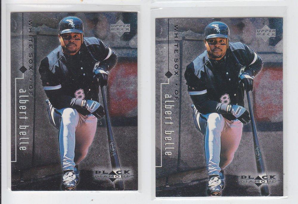 Albert Belle Trading Card Lot of (2) 1999 UD Black Diamond #22 Whtie Sox