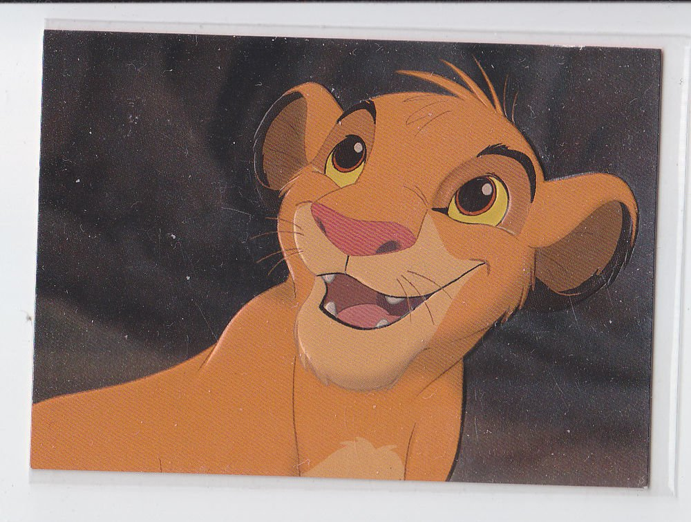 Simba Embossed Foil Trading Card Single Skybox Lion King Series 1 #F1  *ED